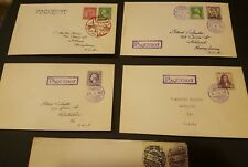 Japan Stamps and Envelopes (x5) (Paquebot)