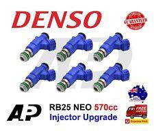 6 x DENSO 570CC FUEL INJECTORS FOR NISSAN NISMO SKYLINE R34 RB25DET NEO ER34