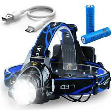 350000LM LED T6 Headlamp Headlight Head Torch Light + Ultrafire 18650 Batteries