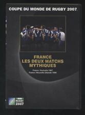 DVD Coupe Du Monde De Rugby 2007 - France Les 2 Matchs Mythiques neuf sans blist