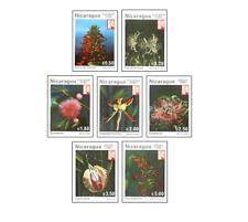 NIC8203 Flowers 7 stamps MNH NICARAGUA