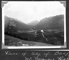 VINTAGE PHOTOGRAPH 1947 BANFF ALBERTA CANADA FROM MT NORQUAY HWY BIRD-VIEW PHOTO