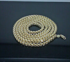 Men's Real 10 K Yellow Gold Byzantine Chain For Men's 28 Inches Long,Cuben ,Rope