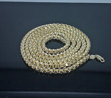 "10K Yellow Gold Byzantine Chain For Men's 26"" Long  5mm Franco, Cuban, Rope"