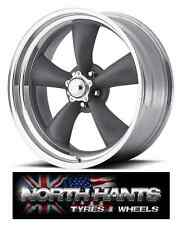15X7 5-4.75 AMERICAN RACING CLASSIC TORQ THRUST GRAY POLISHED LIP CHEVY,HOT-ROD