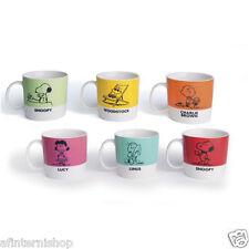 Set 6 tazzine caffe PEANUTS ml 100 snoopy linus charly brown woodstock EX-47877