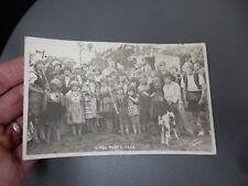 Gypsy Party Baildon ShipleyYorkshire 1929 photographic POSTCARD authentic  n