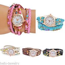 Damenuhr Armbanduhr Quarzuhr Wickelarmband Analog Watch Vintage Farben M12354
