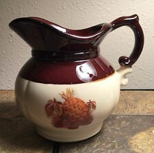 Excellent McCoy Pitcher 7528: Cream + Brown Color with Pineapple + Fruit. #9072