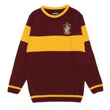 Official Kids Harry Potter Gryffindor Quidditch Knitted Jumper Boys Girls