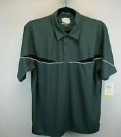 Holloway Short Sleeve Men's X-Large Golf Shirt Green w/Black & White Accent NWT
