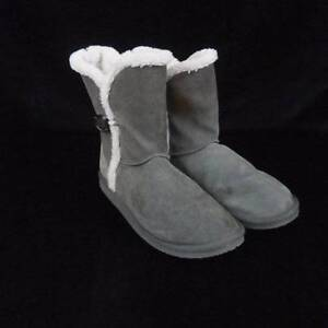 Gray Suede Ankle Boots Booties American Eagle Outfitters Womens 10