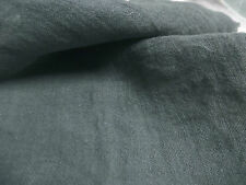 """100% Soft Linen Fabric Crinkle Solid By the Meter Apparel & Fashion Grey 46""""-60"""""""