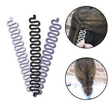 Black Hair Braiding Tool Magic Twist Styling Bun Maker Holder Clip Roller Hook