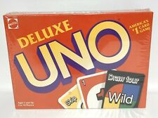 UNO Deluxe Card Game 1993 Mattel 43001 Factory Sealed
