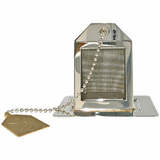 Tea Infuser and Drip Tray. Silver Plated Tea Bag. Made in England. Exclusive!