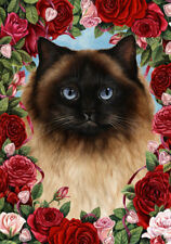 Roses Garden Flag - Himalayan Cat 199521