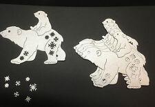 TATTERED LACE POLAR BEAR CHRISTMAS/ WINTER BIRTHDAY DIE CUTS