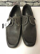 Rock Republic Men's Loafers Boat Shoes No Lace Dark Grey Black Size 13 Med