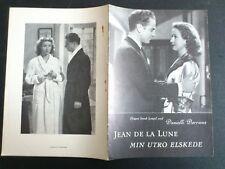 "Danish movie program."" Jean De La Lune"" 1949. Danille Darrieux.Claude Dauphin."