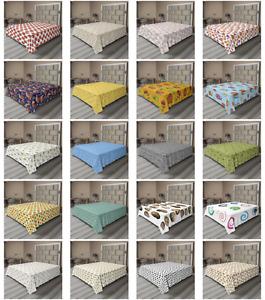 Ambesonne Snail Flat Sheet Top Sheet Decorative Bedding 6 Sizes