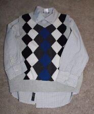 """Gymboree """"Snowboard Legend"""", dress shirt with sweater vest, Euc, sz 5-6"""