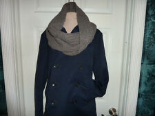COACH 84014 Women's $198 NWT Alpaca Wool Chunky Twisted Infinity Scarf Cowl gray