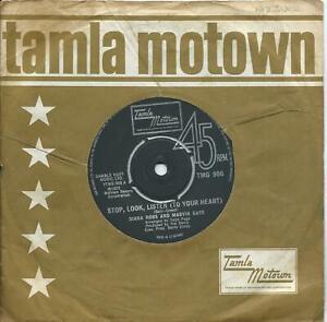 Diana Ross & Marvin Gaye:Stop, look, listen (to your heart)UK Tamla Motown:1973