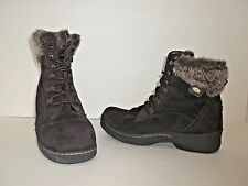 Denver Hayes Women's Brianna Low Cut Lace Up Winter Ankle Boot Brown Size 7.5 M