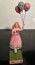"""JIM SHORE """"I LOVE YOU"""" GIRL WITH BALLOONS #4007237 FIGURINE WITH BOX"""