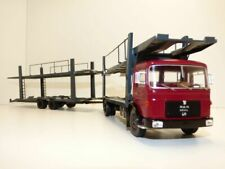 1 43 IXO M.a.n. car Transporter Darkred/black