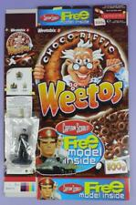 Captain Scarlet Weetos Cereal Box & Model of Captain Black,  2003