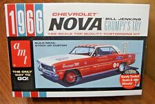 AMT 1966 CHEVROLET NOVA 1/25 SCALE MODEL KIT (build stock, drag or custom)