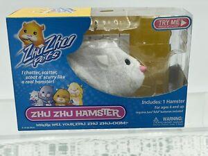 Zhu Zhu Pets Powered White Hamster, 2008, Mint In Box