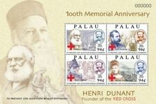 Palau- Henri Dunant 100th Memorial Anniversary Stamp Sheet of 4 MNH