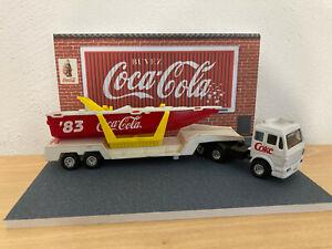 Edocar Coca Cola Camion Mercedes + Bateau 1/87+ boite + diorama 1/43