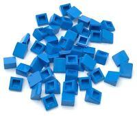 Lego 50 New Dark Azure Slope 30 1 x 1 x 2/3 Sloped Pieces