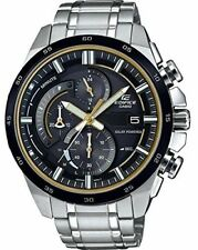 Casio Men's Edifice Chronograph Solar Stainless Steel Watch EQS-600DB-1A9