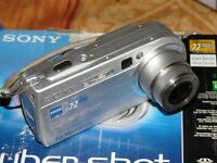 Sony Cyber-shot DSC-P150 7.2 MP - Digital Camara - Plateado