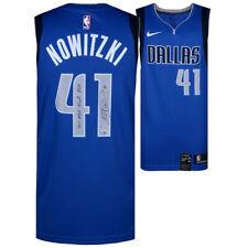 "DIRK NOWITZKI Autographed ""2011 Finals MVP"" Mavericks Royal Nike Jersey FANATICS"