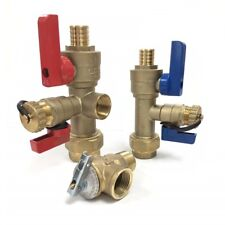 """PEX 3/4"""" Tankless Water Heater Isolation Valve Kit, Noritz, Rinnai, Jacuzzi"""