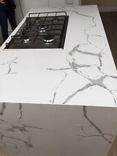 Quartz White MiraKitchen Worktop- Sample