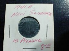 RARE 1941 E WW2 NAZI ZINC COIN w SWASTIKA!! Year of PEARL HARBOR!!