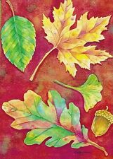 Fall Leaves House Size Flag