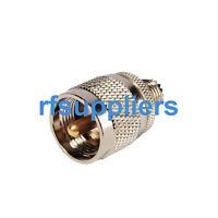 UHF male PL259 to Mini-UHF Female straight adapter splitter