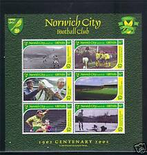 Grenada 2002 Norwich City FC MS SG4815 MNH
