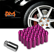 M12X1.25 Pink JDM Closed End Cone Hex Wheel Lug Nuts+Extension 25mmx50mm 20Pc