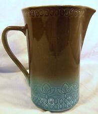"Vintage Syracuse Calypso China Pottery Pitcher 7 1/4"" Trinidad Blue Carefree euc"