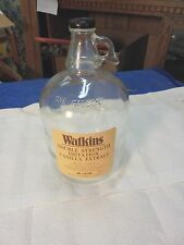 one gallon glass jug watkins double strength imitation vanilla extract handle