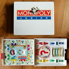 Travel Size Monopoly Junior Jr. Board Game Parker Brothers 1994